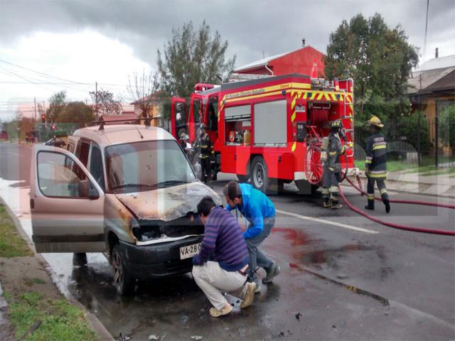 Incendio Provoca Daños en Vehículo en Talca