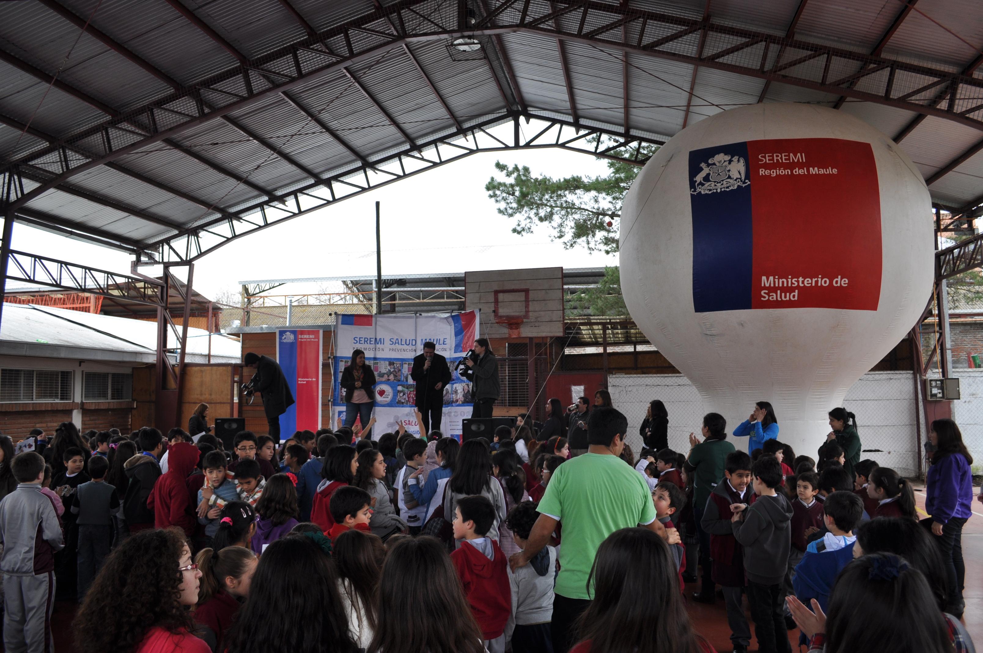 Cientos de Escolares Talquinos Disfrutaron de Recreos Activos