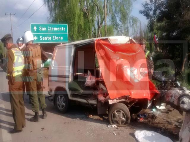 Dos muertos Dejó Colisión Frontal en Ruta Talca-San Clemente