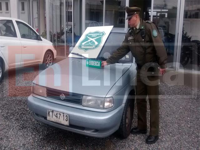 Persecución por Vehículo Robado Termina con Dos Detenidos en Talca