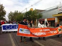 Apoderados y estudiantes marcharon en contra del cierre de colegios particular subvencionados