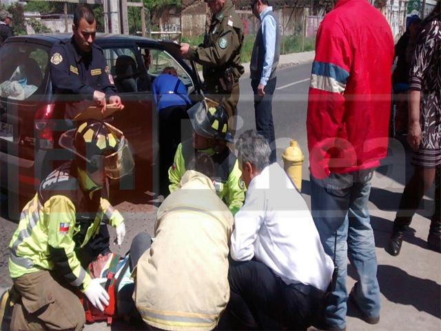 Un Lesionado deja Accidente en Talca