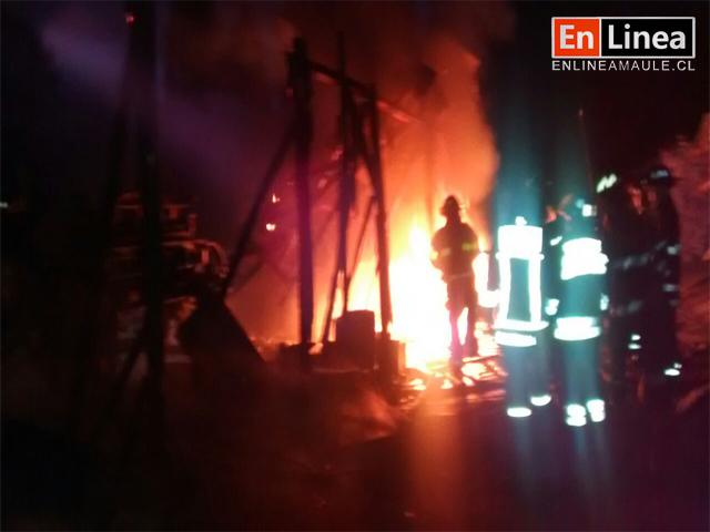 Millonarios Daños dejó Incendio en Curtiembre en Talca