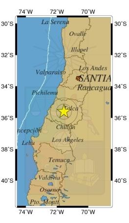 Sismo de 5,2 Richter Afectó esta mañana la Región del Maule