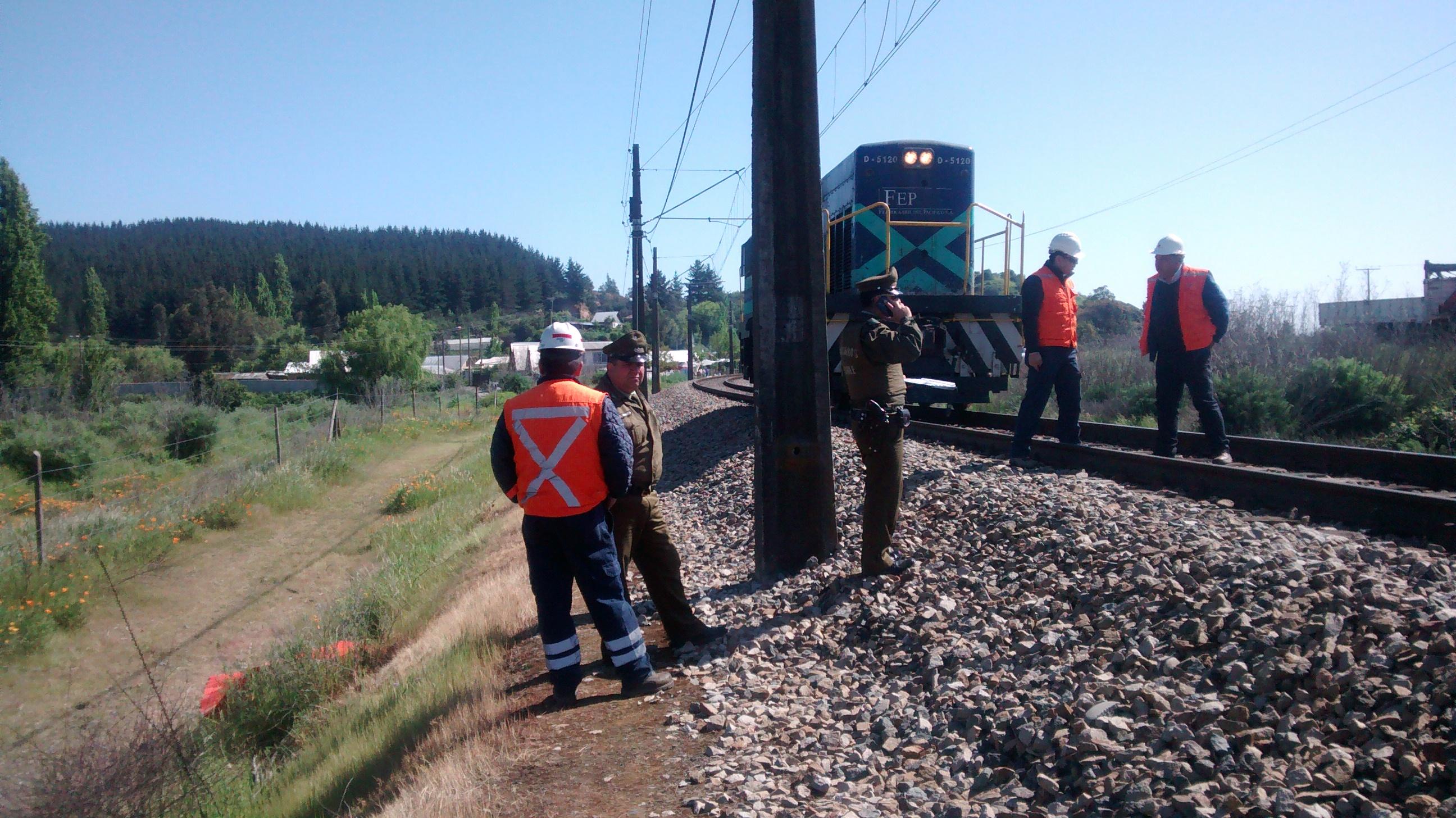 Trágica muerte de operario atropellado por locomotora frente a Maule