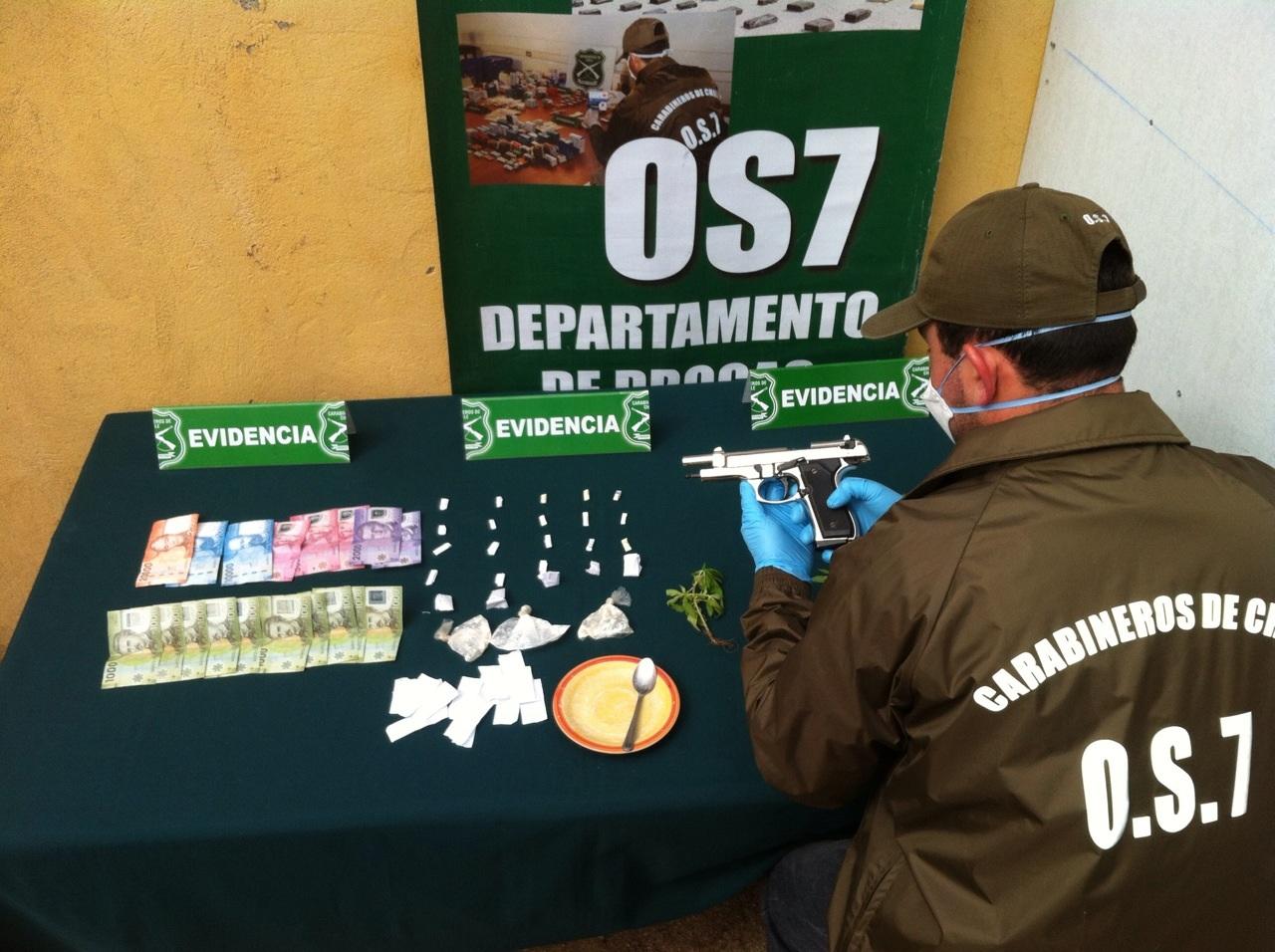 OS-7 de Carabineros Desbarata Microtráfico de Drogas en San Clemente