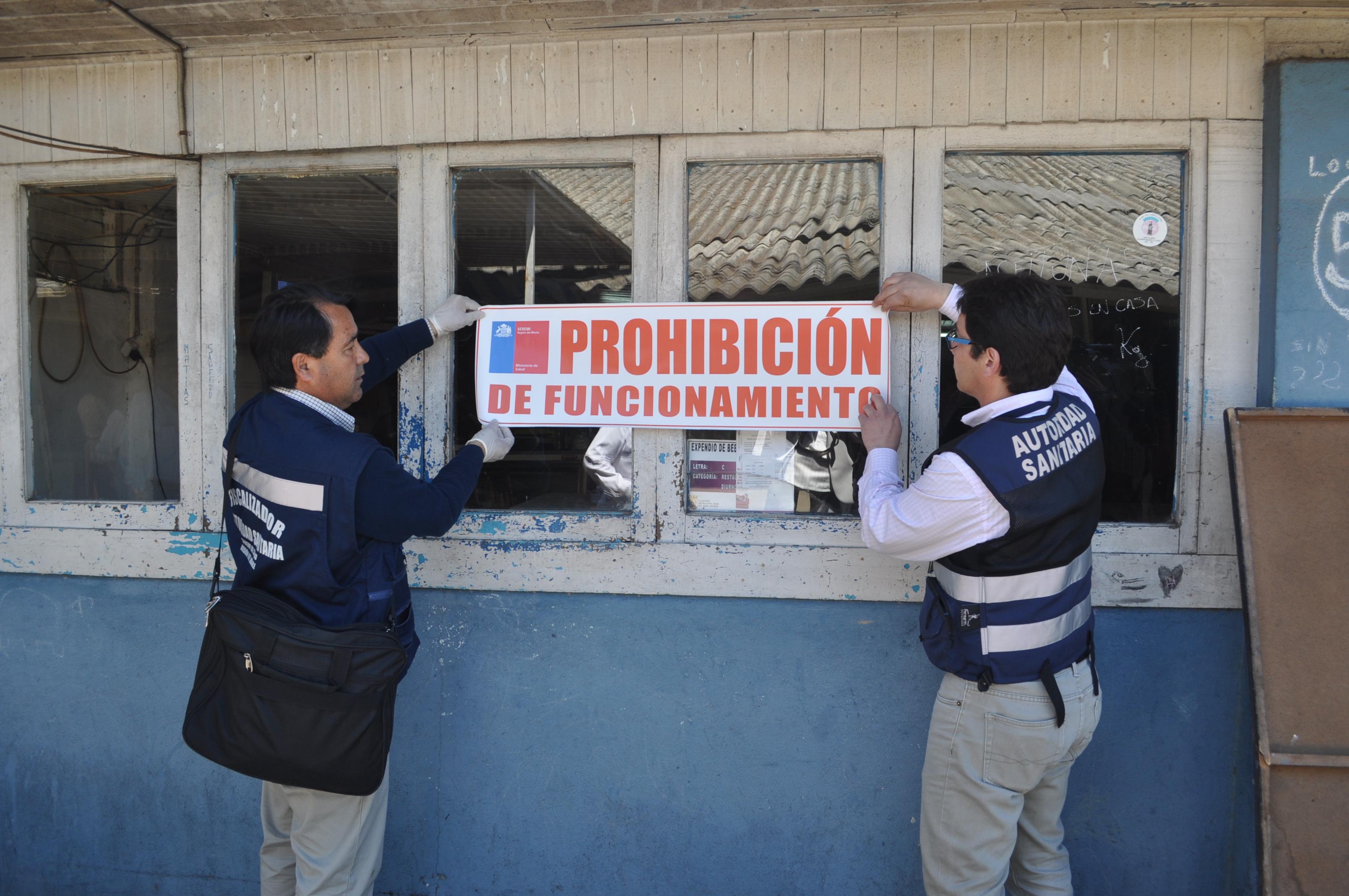 Prohibición de Funcionamiento para Local de Alimentos en San Javier