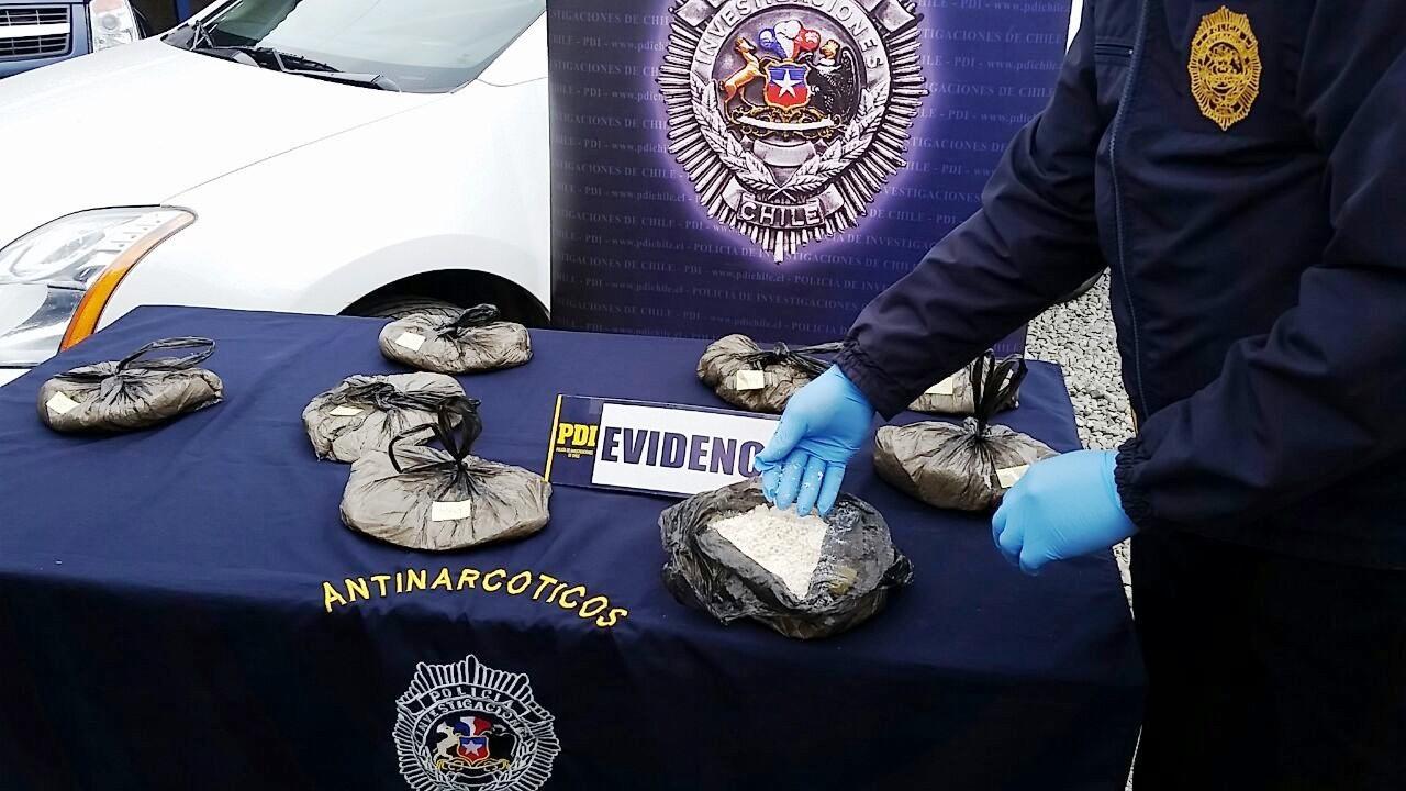 Cuatro Detenidos por Cocaína en Curicó