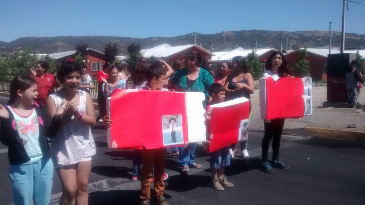 Pobladores Protestan en Barrio Norte de Talca