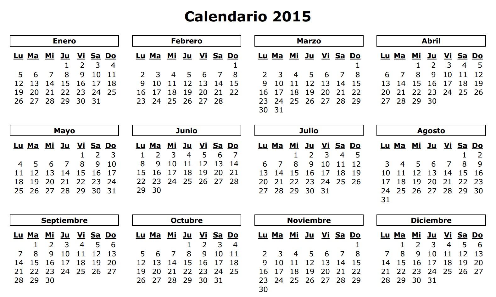 Quince Feriados Trae el 2015