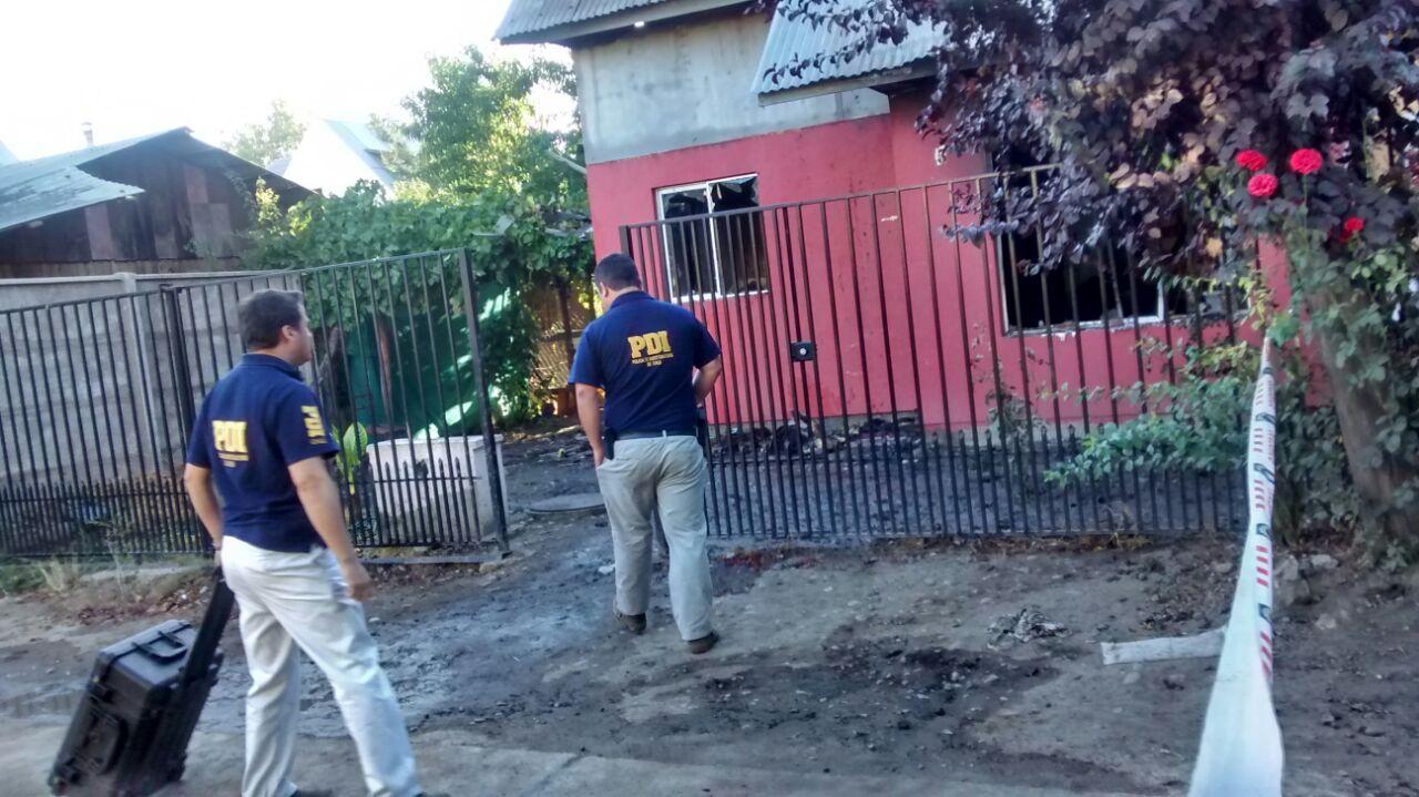 Un Muerto deja Incendio en Vivienda de Talca