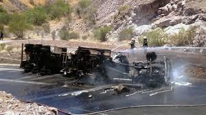 Conductor de camión muere calcinado al interior de cabina en Maule