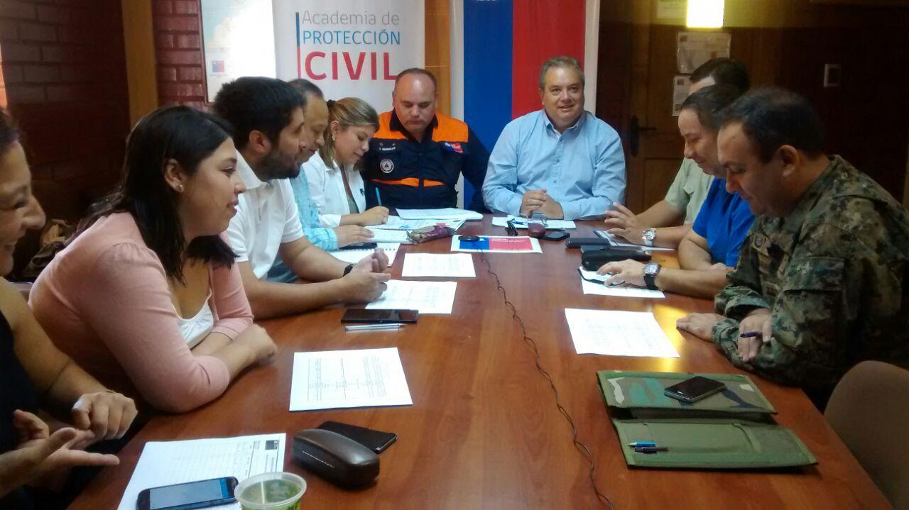 Intendente Encabezo Comité de Operaciones de Emergencias en el Maule