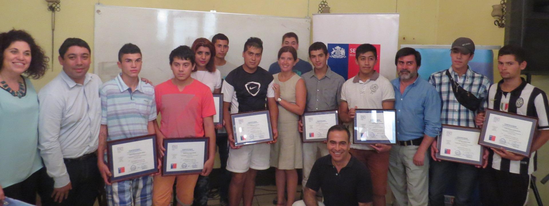 Jóvenes que cumplen condena finalizan con éxito capacitaciones en Talca