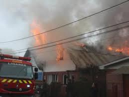 Tres Viviendas Destruidas Deja Incendio en Talca