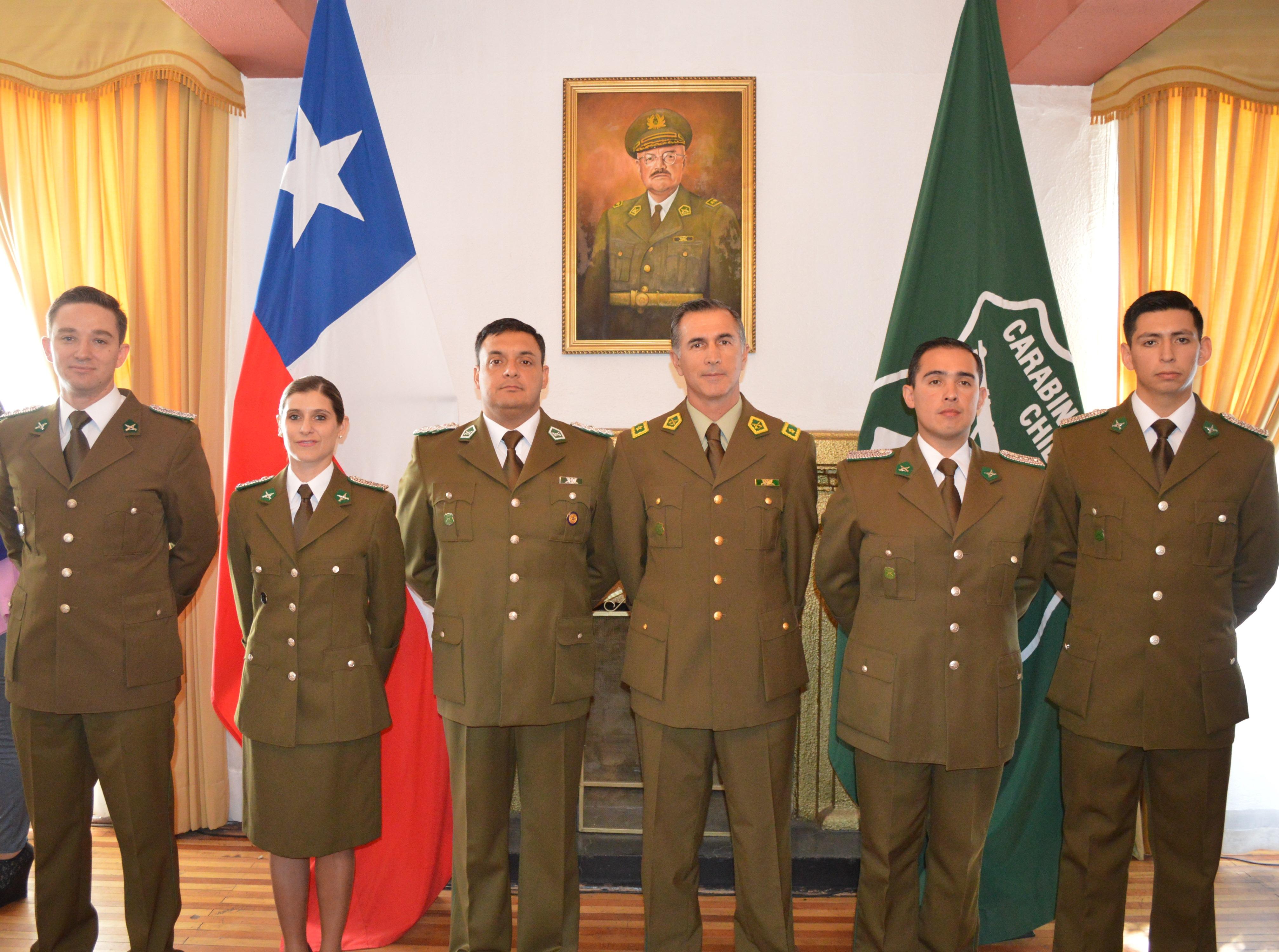 Ascenso de oficiales de carabineros en Talca