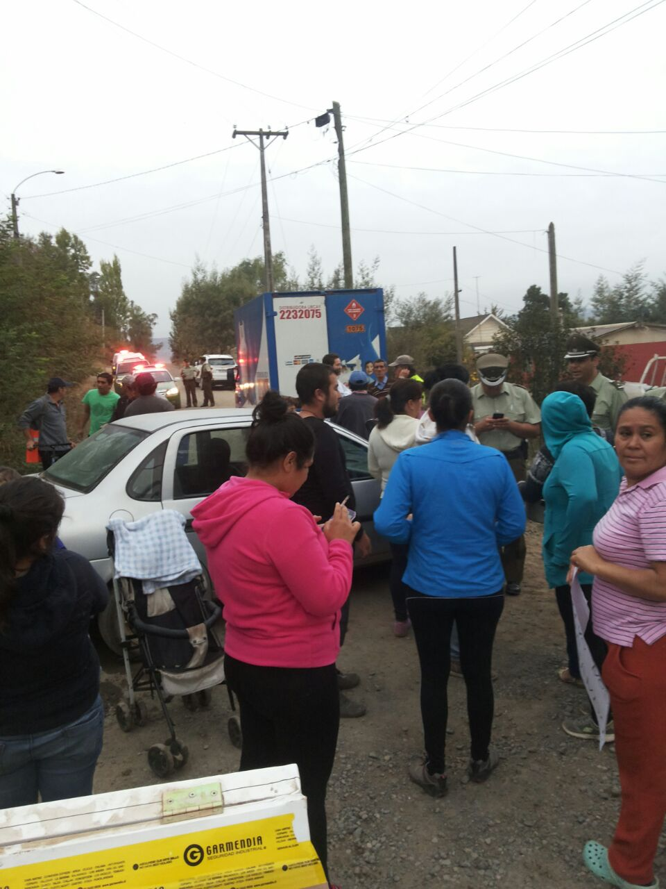 Protesta masiva de pobladores de Lircay alto