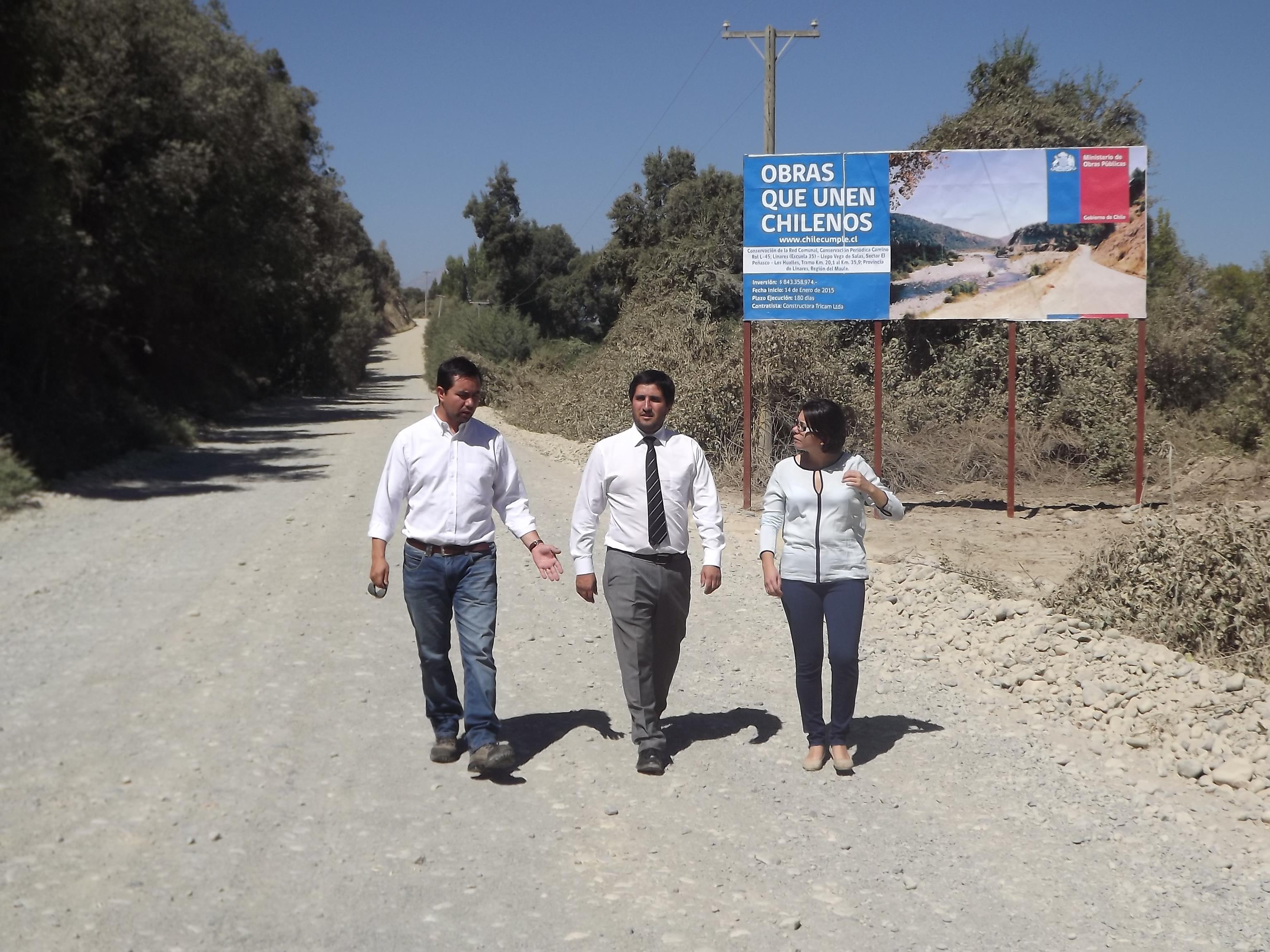 Importante mejoramiento a camino que une localidades cordilleranas en Linares