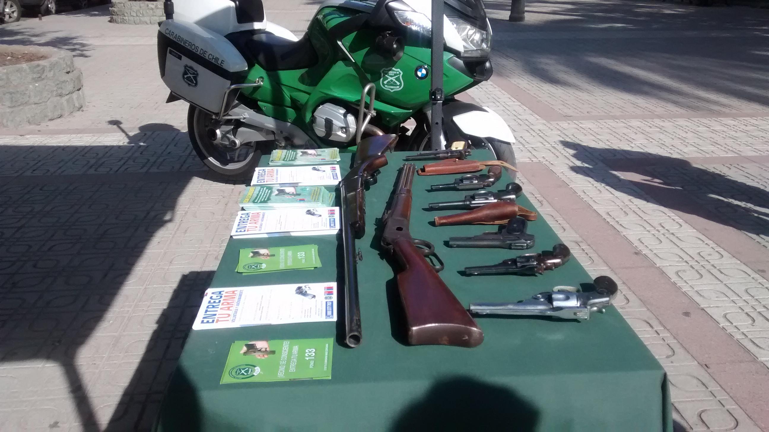 Carabineros calificó como positiva campaña de entrega de armas de fuego voluntaria