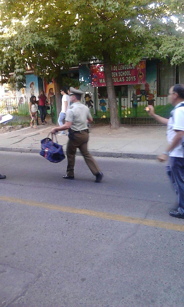 Bolso abandonado genera temor en pleno centro de Talca