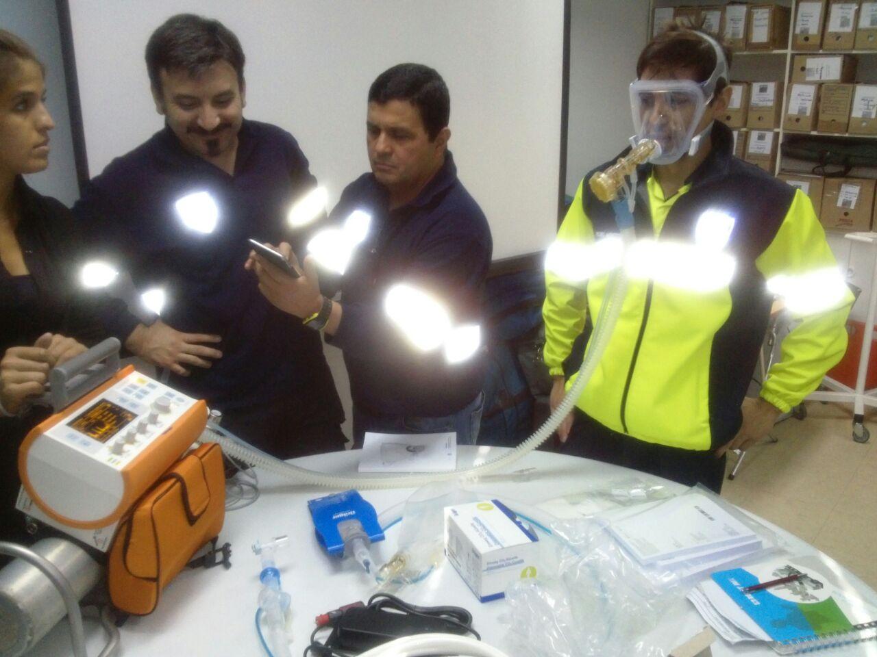 SAMU se capacita en el uso de nuevos ventiladores no invasivos