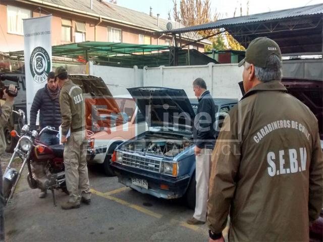 Carabineros recupera cinco vehículos en Talca