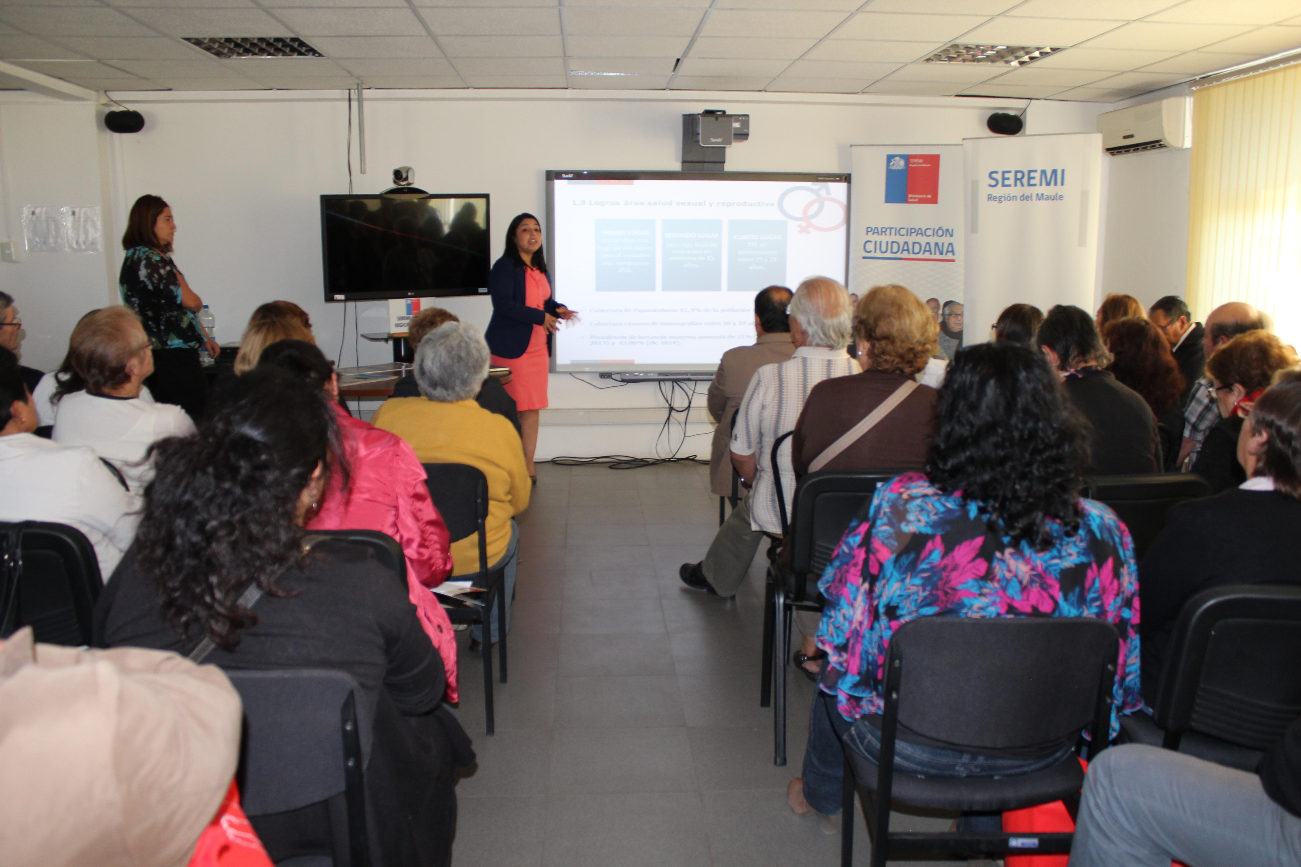 Seremi de salud del Maule rindió cuenta pública a consejo asesor regional