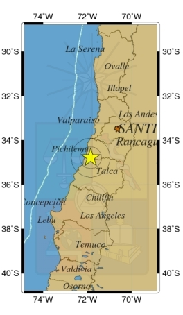 Temblor de mediana intensidad afectó la zona central del país