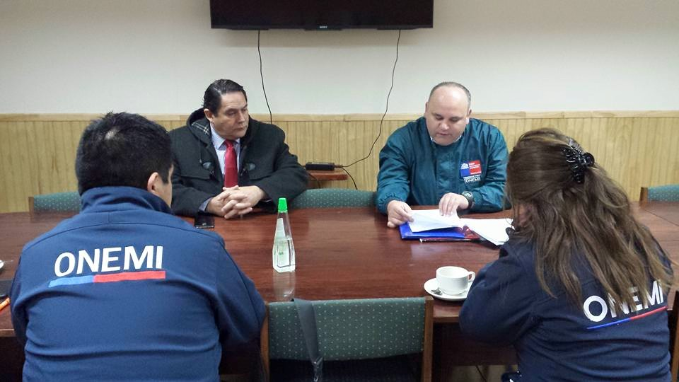 Gobernación y Onemi analizan planes de emergencia para Complejo Fronterizo Pehuenche