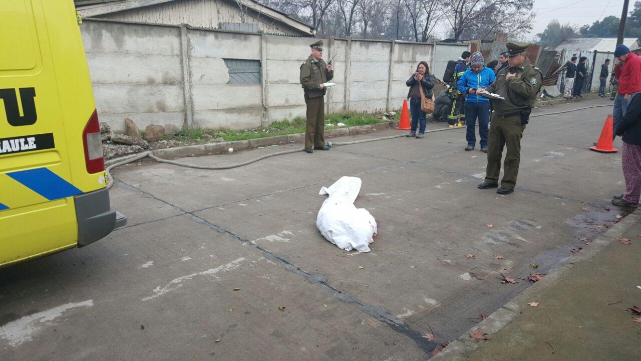 Explosión de gas deja una víctima fatal en Talca