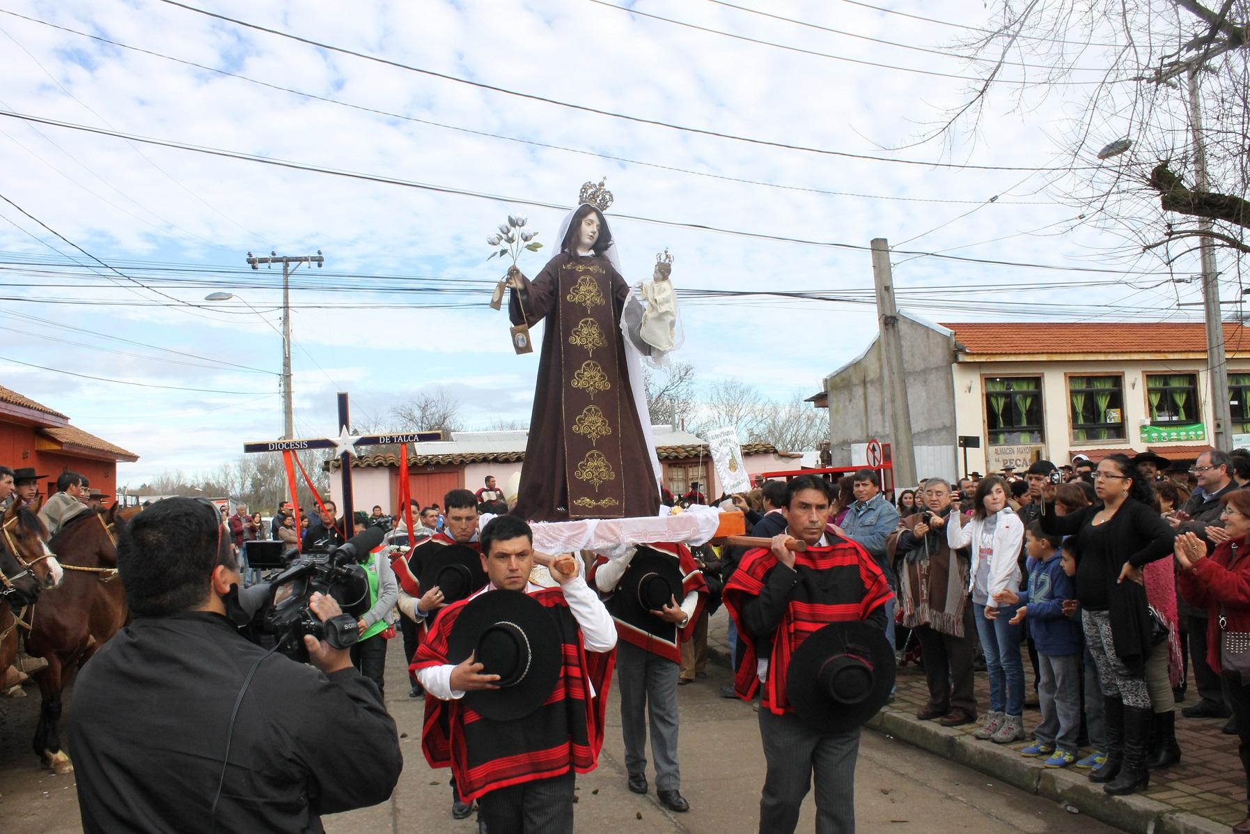 Comienza celebración de la Virgen del Carmen en Pelarco
