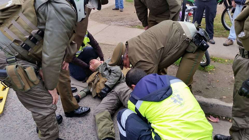 Motorista de carabineros implicado en colisión en Curicó