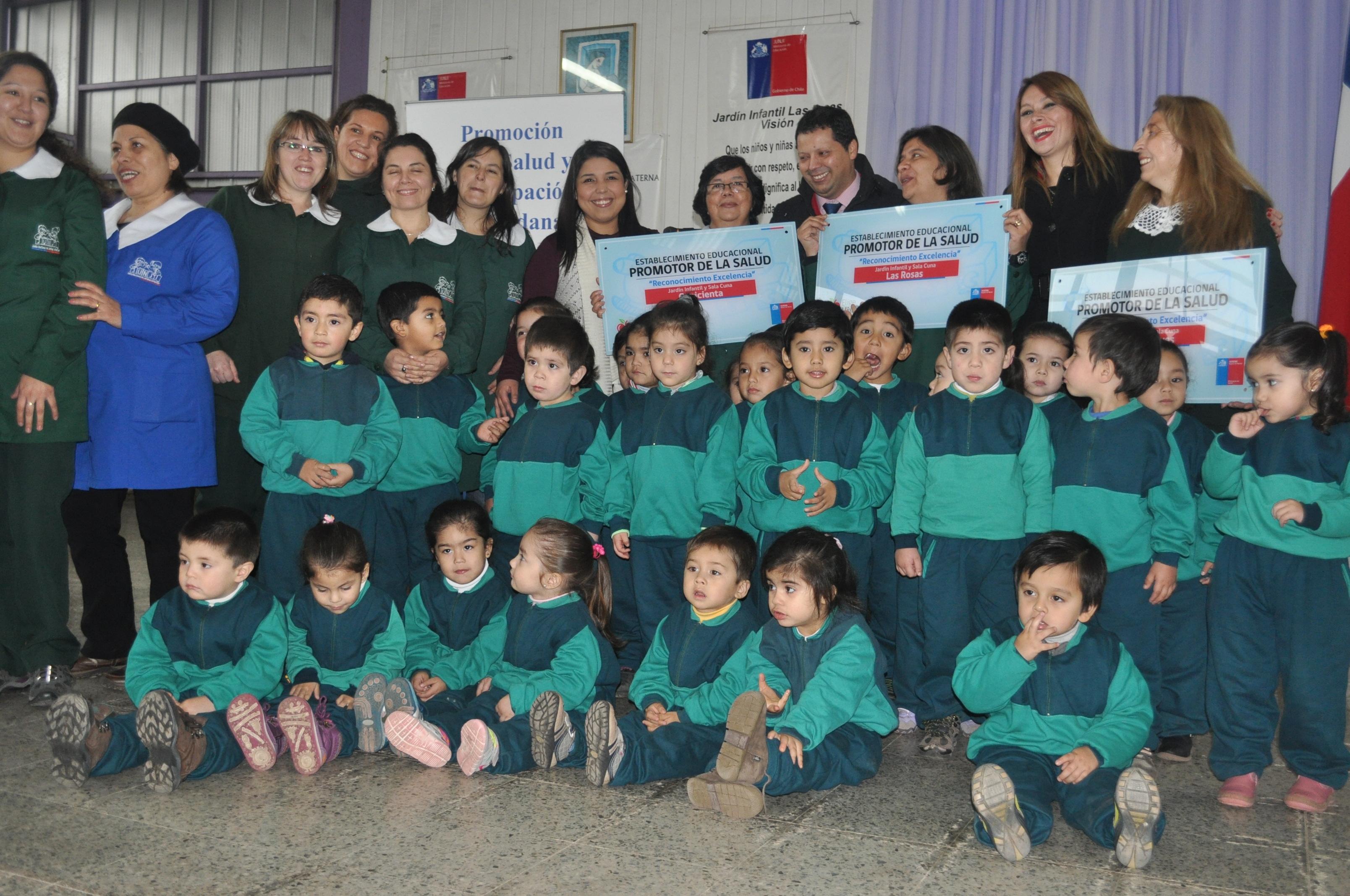 En Linares se reconocieron a Jardines Infantiles promotores de la salud