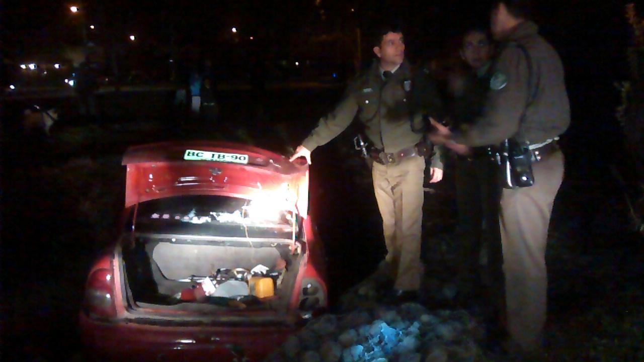 Carabineros detuvo a antisociales que asaltaron vivienda en Talca