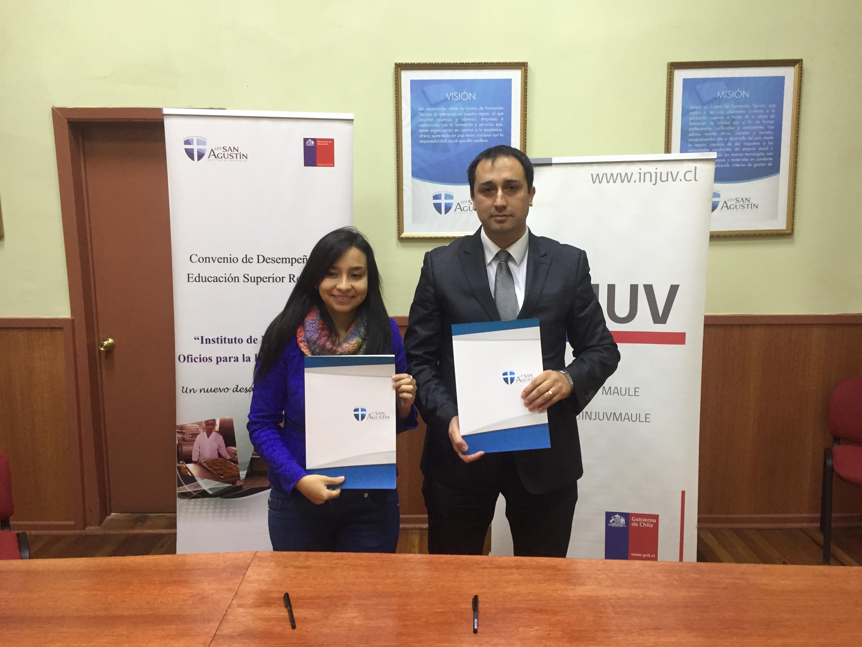 INJUV Maule firma importante convenio para capacitar a jóvenes de la región