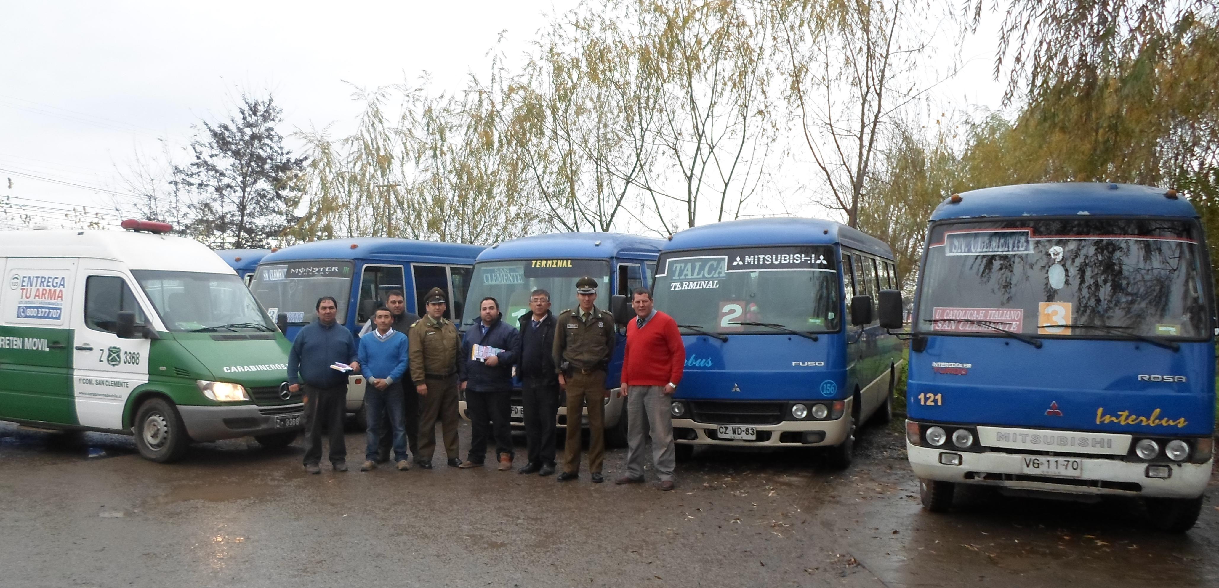 Carabineros logra mejorar letreros de buses interurbanos de San Clemente