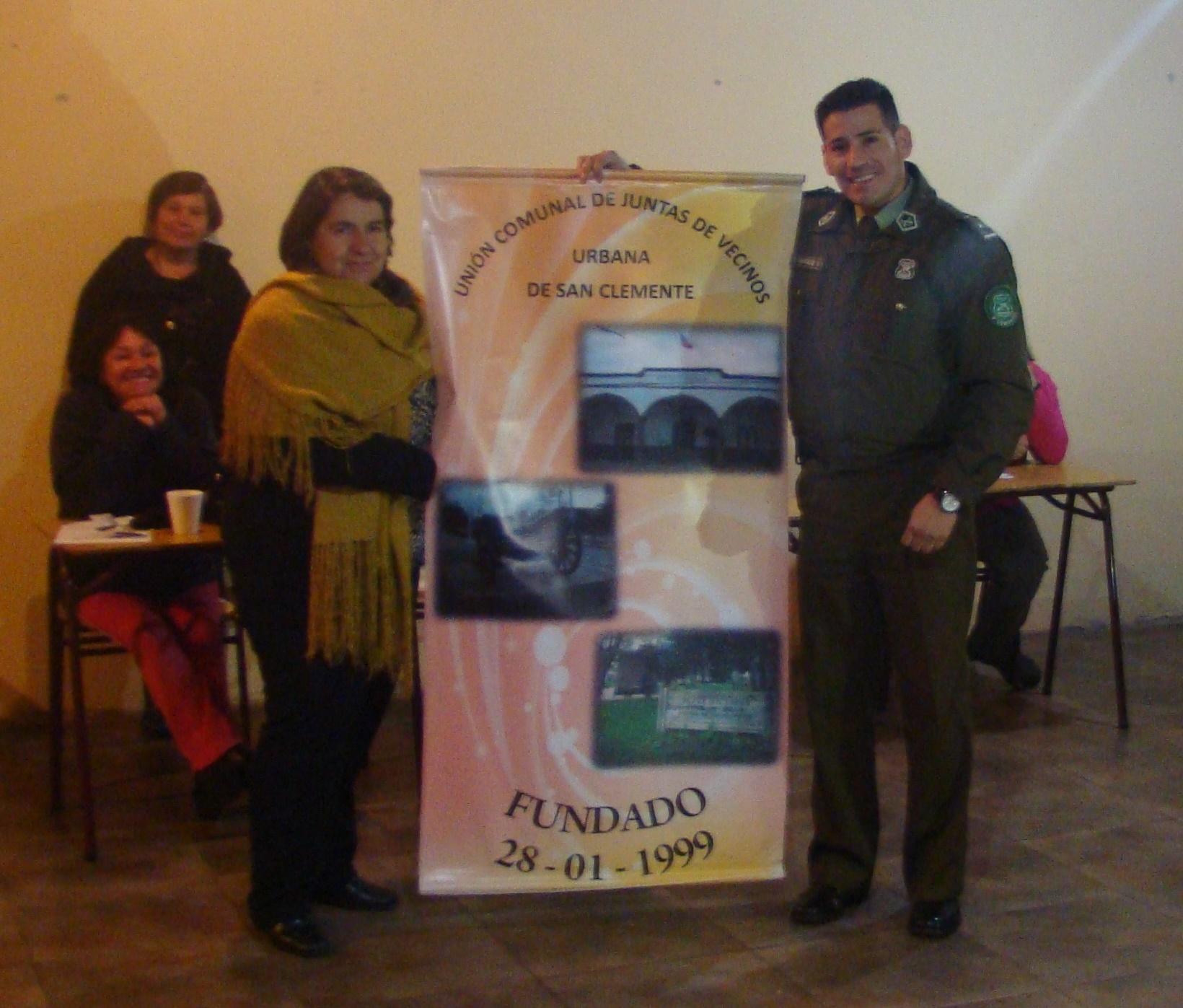 Carabineros organizó mesa de trabajo para dirigentes vecinalesenSan Clemente
