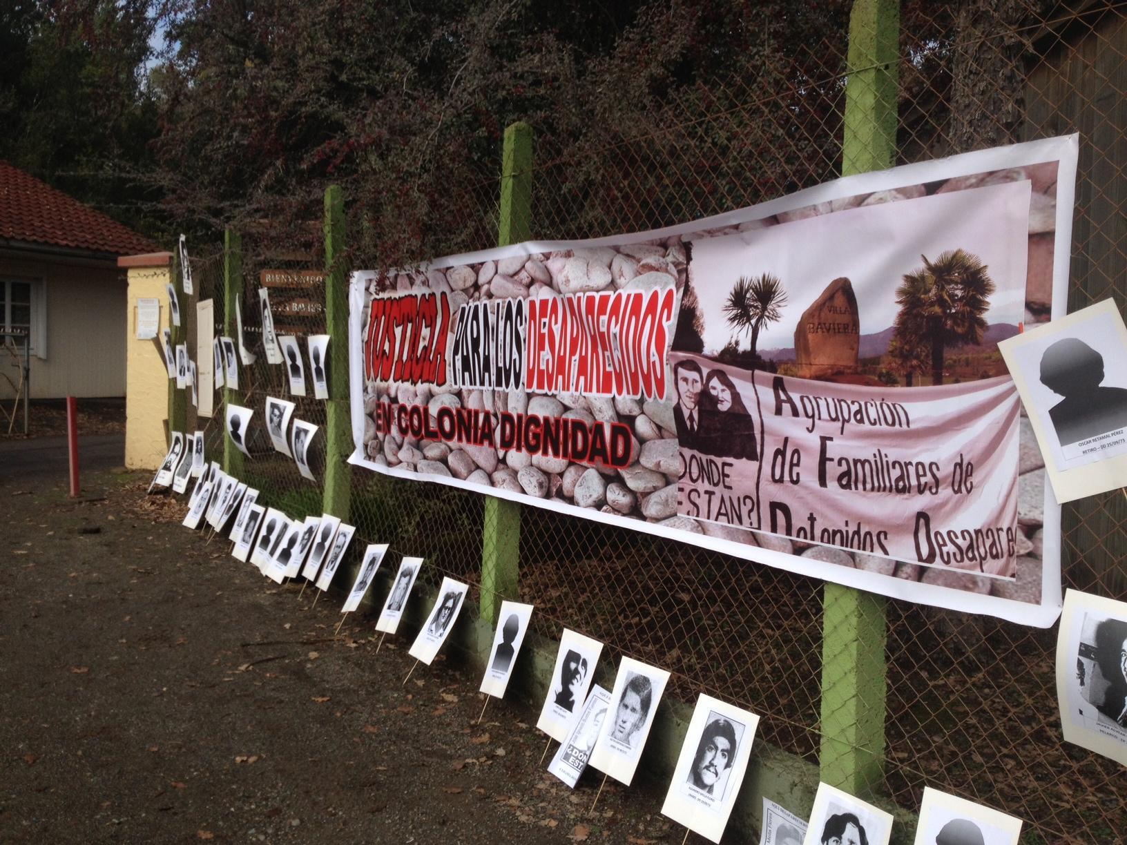 Familiares de detenidos desaparecidos protestaron nuevamente en Colonia Dignidad