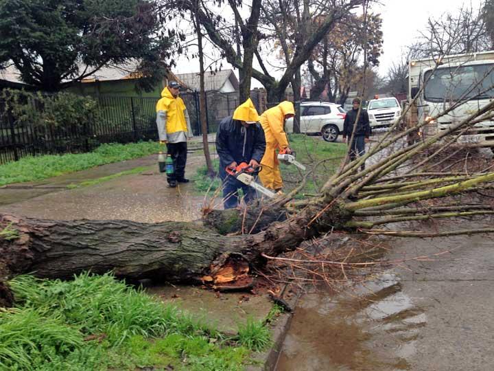 Frente de mal tiempo mantiene en alerta a autoridades en Talca
