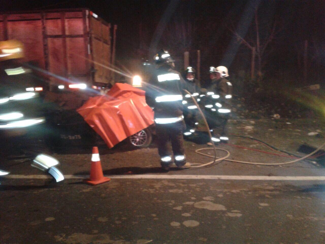 Cuatro víctimas fatales deja accidente en ruta L-45 en Linares