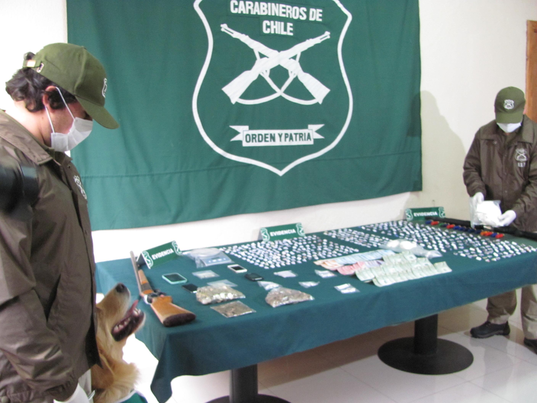 Duro golpe al narcotráfico dio el OS-7 de Carabineros Talca