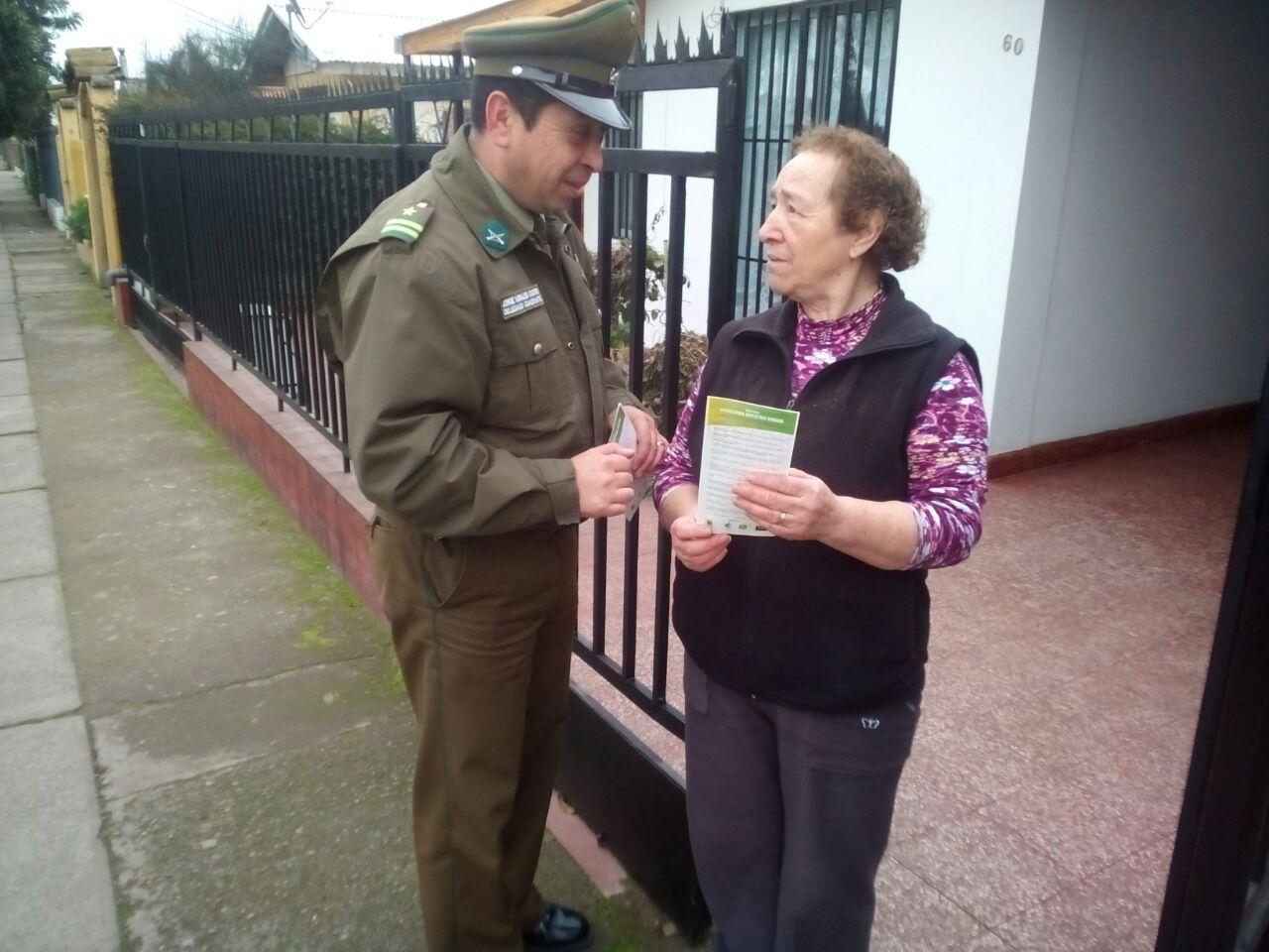 """Carabineros realiza campaña """"Cuida tu casa""""en Curicó"""