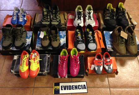 Detienen a mujer por cuantioso robo de zapatillas de marca en Talca