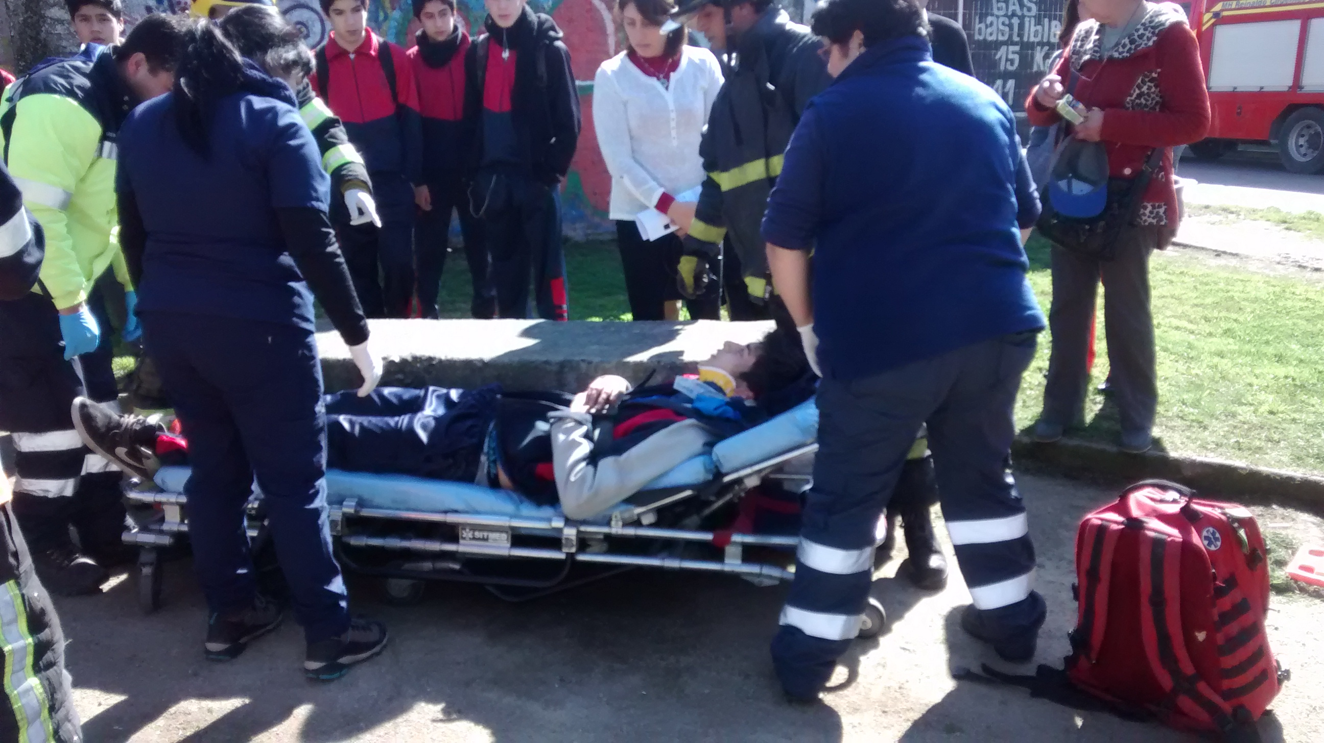 [Video] Estudiante en bicicleta sufre grave accidente en Talca
