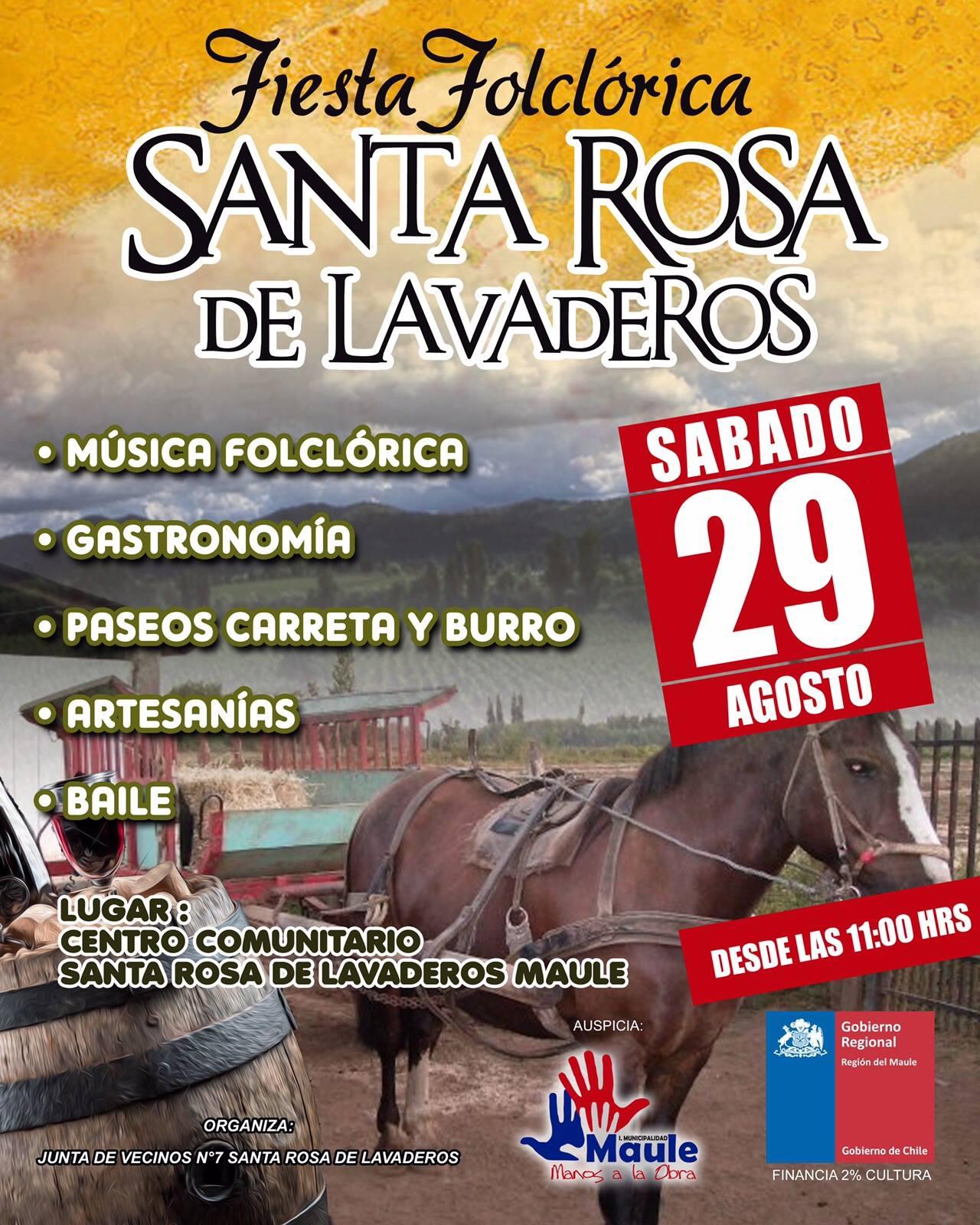 Santa Rosa de Lavaderos vivirá su fiesta costumbrista