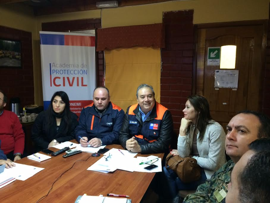 Intendente Hugo Veloso encabeza COE Regional por Sistema Frontal que afecta al Maule