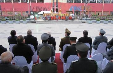 Plaza Cienfuegos fue escenario de concierto de banda del regimiento de Talca