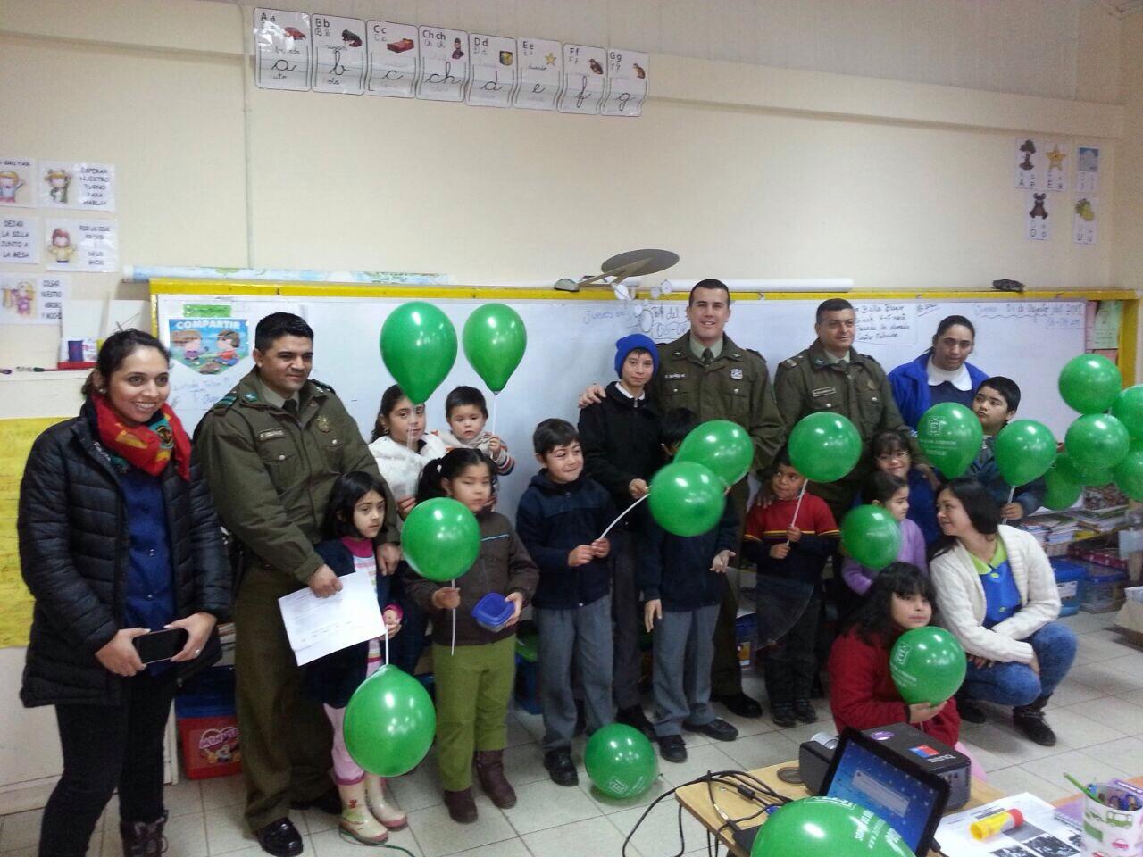 Carabineros visitó escuela rural de San Rafael