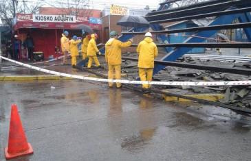 Nave central de terminal de buses de Talca se encuentra reparada tras temporal