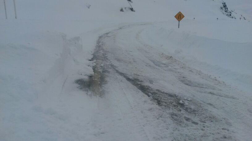Frente de mal tiempo obliga a cierre de Ruta CH115 hasta sector La Mina